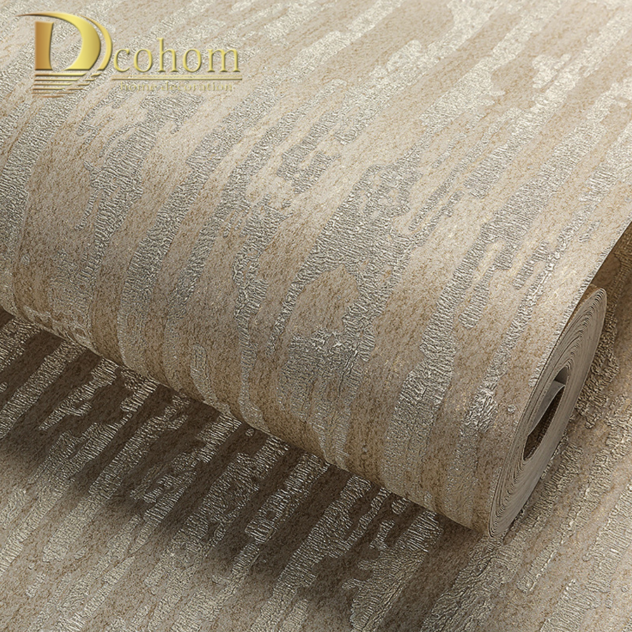 Dcohom Modern 3D Striped Wallpaper For Bedroom Living Room Sofa TV Walls Decor Simple Solid Color Embossed Wall Paper Rolls modern wallpaper for walls black white leaves pattern bedroom living room sofa tv home decor luxury european wall paper rolls