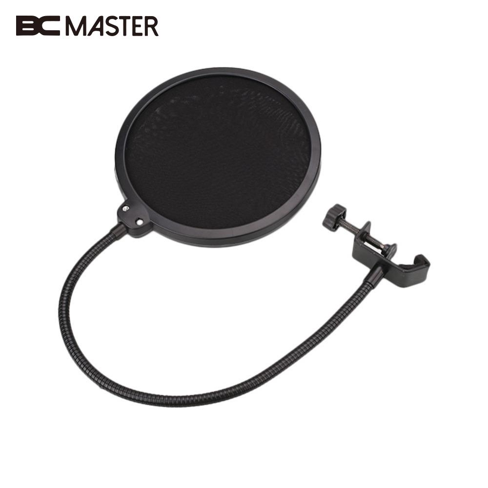все цены на  BCMaster Black New Flexible Microphone Windshield Mic Pop Filter Shield Cover For Speaking Accessories  онлайн