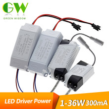 300mA Power Supply 1 W-36 W Lampu LED Transformer 85-265 V Constant Current Driver Adaptor untuk lampu LED Strip(China)