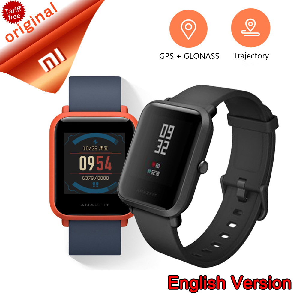 English Version Original Xiaomi Huami Amazfit Youth Smart Watch Bip Bit Face GPS Fitness Tacker Heart Rate Baro IP68 Waterproof english version original xiaomi huami amazfit youth smart watch bip bit face gps fitness tacker heart rate baro ip68 waterproof