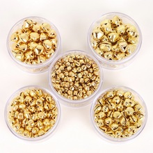 Золотые колокольчики 50-300 шт., железные подвески, подвесные елочные украшения, рождественские украшения, вечерние аксессуары для поделок
