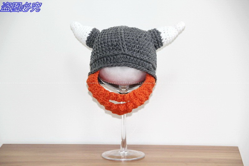 Crochet Viking Helmet Hat with Beard / Viking Helmet Crochet , Dwarf ...