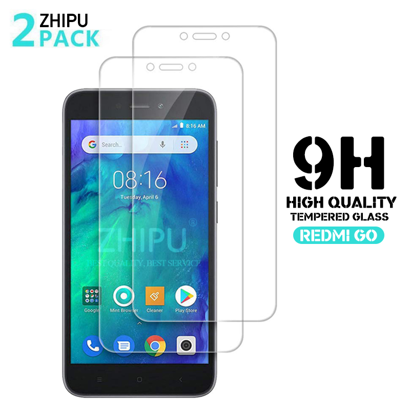2 Pcs/Lot 2.5D 0.26mm 9H Premium Tempered Glass For Xiaomi Redmi Go Screen Protector Protective Film For Xiaomi Redmi Go 5.0
