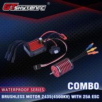 LeadingStar GTSKYTENRC Combo 2435 4500KV 4800KV Brushless Motor w/ 25A ESC for 1:16 1:18 RC Buggy Drift Racing Car