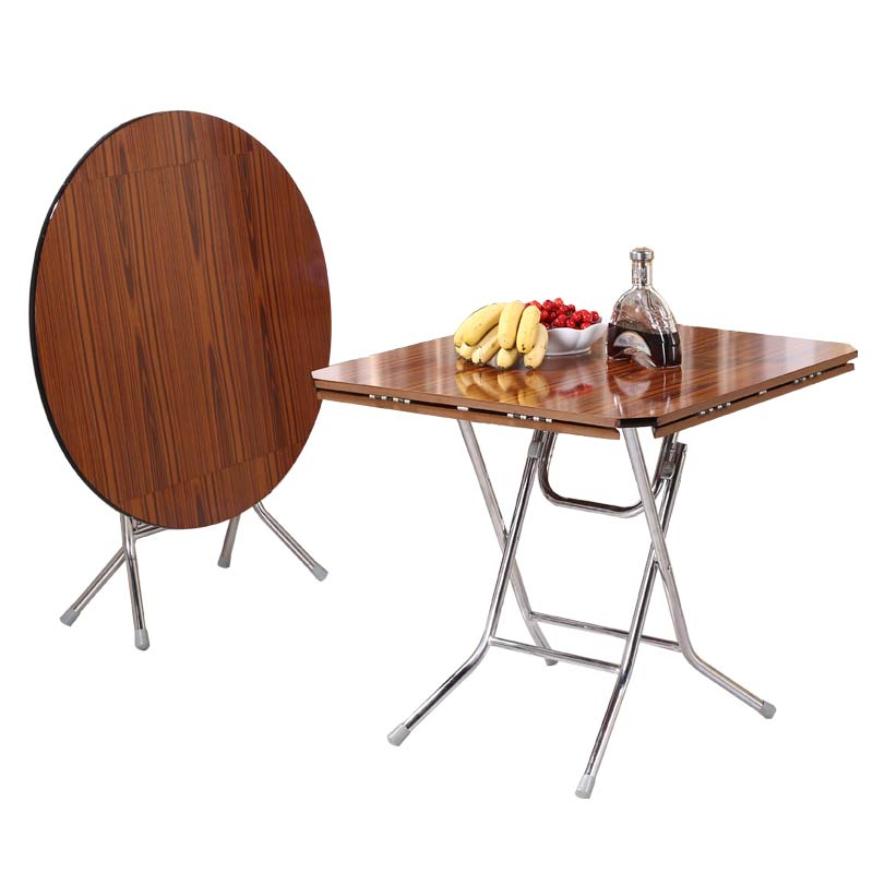 Folding Square Round Table Small Family Home Folding Dining Table  Multifunctional Table