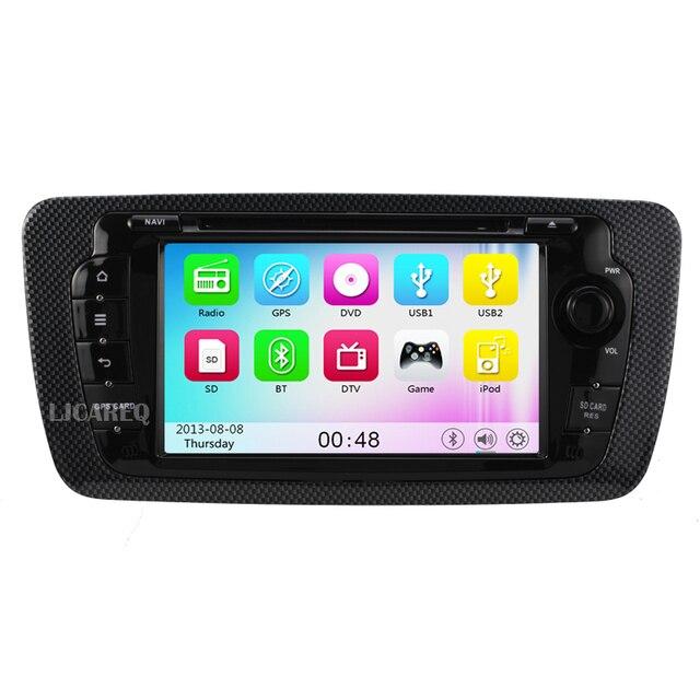 """Wince 7 """"сенсорный экран Dvd-плеер Автомобиля Для SEAT Ibiza 2009 2010 2011 2012 2013 автомобилей стерео радио gps навигации bluetooth бесплатную карту"""