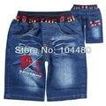 Hombre araña infantil chicos summer denim shorts moda de mediados de cintura del niño del bebé niños jean pantalones