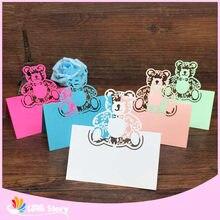 Convites de casamento cortados a laser 40 unidades, cartões para decoração de chá de bebê festa de aniversário do casamento do nome do cartão do nome da mesa