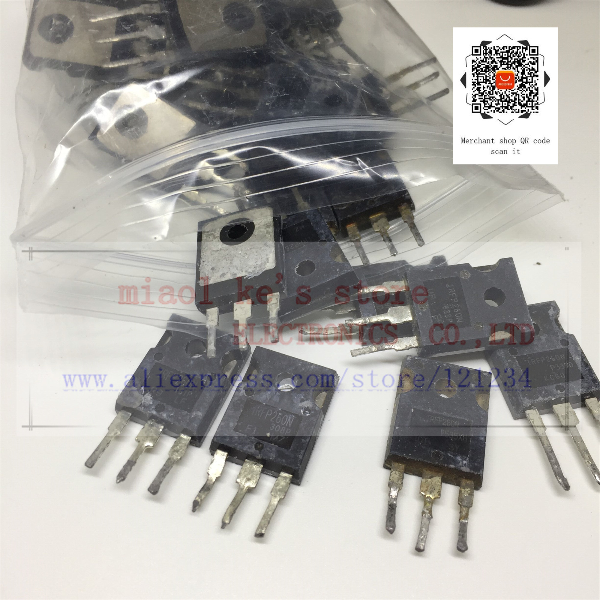 [ 50pcs/1lot ] IRFP260 IRFP260N IRFP260NPBF [ Used Goods ]- Through Hole MOSFET N-CH Pval (2068) 200V 50A 300W TO-247AC