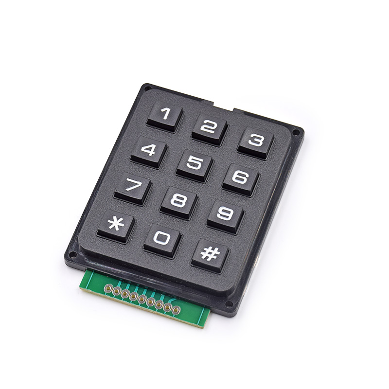 5pcs/lot 4 X 3 Matrix Keyboard Keypad Module With 12 Keys 4 *3 Plastic Keys Switch For Ar-du-ino Controller