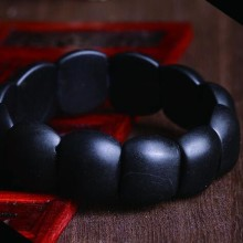 100% Real Natural black jade sibin bian stone needle byanshi bianshi SI Bin Hand row brief bracelet
