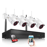 Wireless 4CH/8CH CCTV System Wifi NVR Kit IP Camera Record Outdoor Indoor VandalProof Bullet IP Camera Wifi 720P System