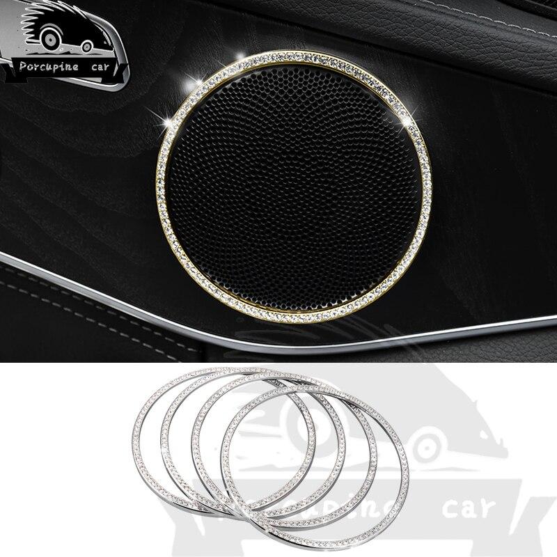 Diamond Audio Speaker Cover Door Lining Interior Speaker Car Round Sticker for Mercedes Benz New C Class GLC260 C200L E300L