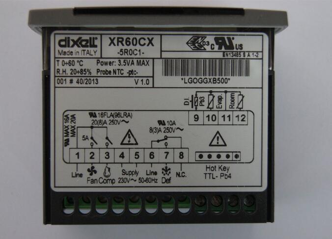 Elf dual thermostat network type XR60CX-5R0C1 cold storage compressor + cooler temperature controller 1hp r404a low temperature compressor unit for beverage cooler