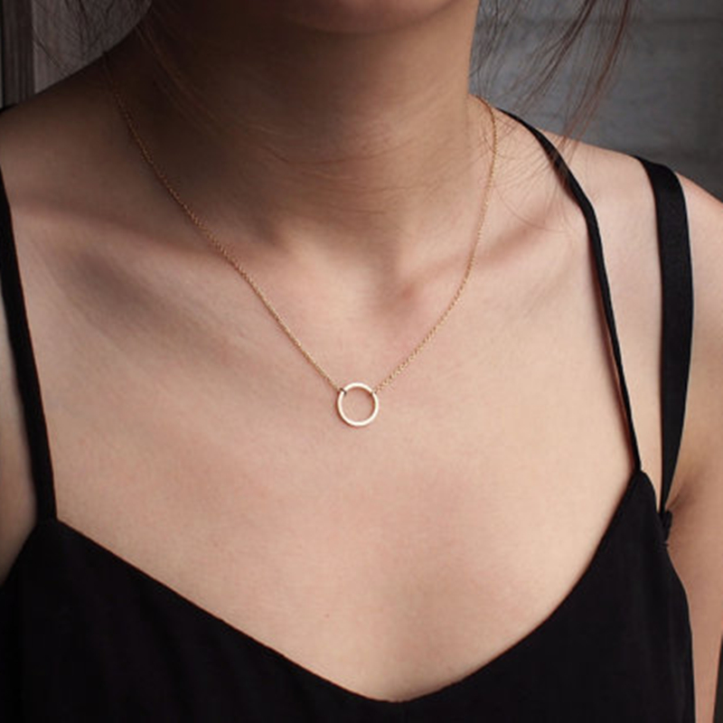 Simple circle pendants necklace eternity necklace infinity silver simple circle pendants necklace eternity necklace infinity silver gold minimalist jewelry necklace dainty circle gift in pendant necklaces from jewelry mozeypictures Images