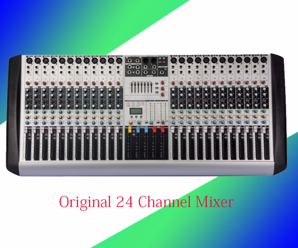 Professional New 24 Mixer Channels Microphone Live Audio DJ Stage Mixer EQ Mixing Console Mezcladora De Double marshalling