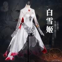 [First STOCK]Game SINoAlice Shirayukihime Snow White Gothic Dress Full set Halloween Cosplay costume Dress For women New 2017