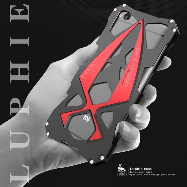 Luphie Alumínio Armadura Legal carro esportivo de Luxo casos de Telefone de metal para xiaomi mi mi5s 5S case capa para xiaomi mi mi5s 5S
