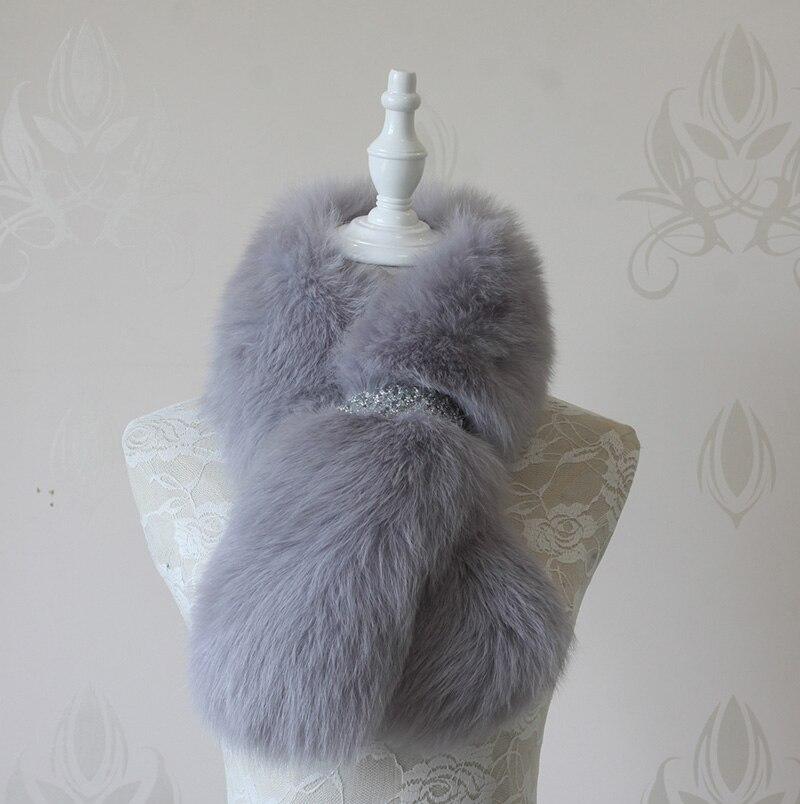 Зима женщины мода Новый натуральный Лисий мех женщины крест шарф Wrap шаль шаль FFS0005
