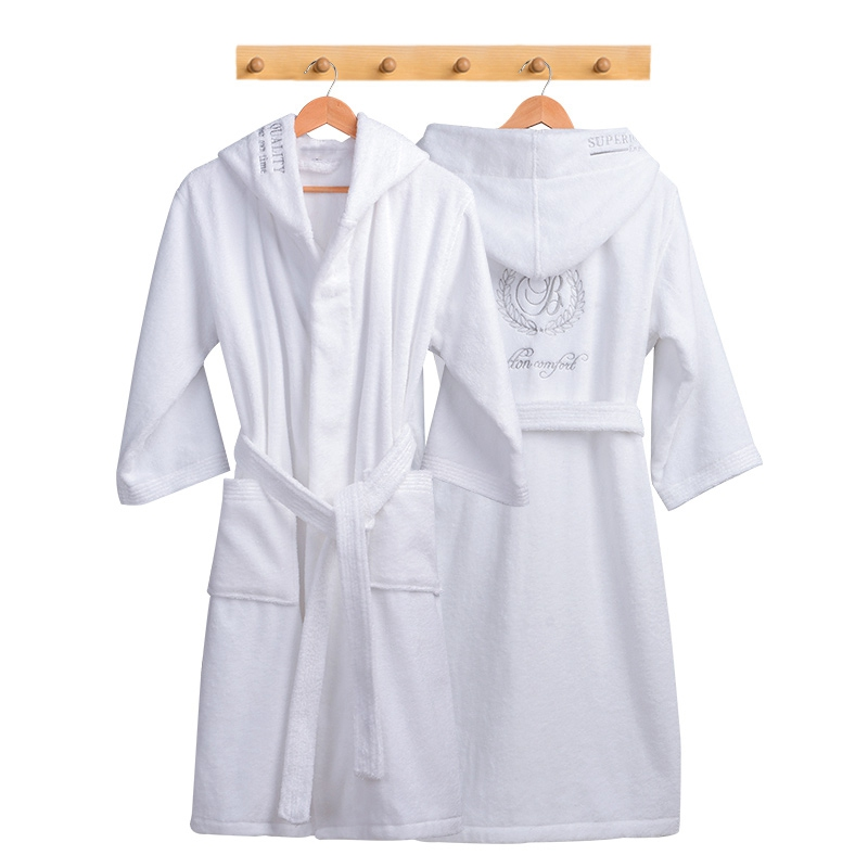 Image 3 - Winter Bathrobe Women Thick Lovers Robe bathrobe women thickening Towel fleece bath robe lounge badjas peignoir femme polaire-in Robes from Underwear & Sleepwears