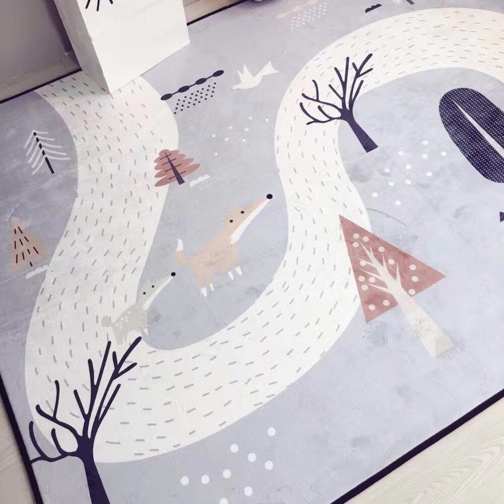 150X190 CM tapis en cachemire cristal pour salon dessin animé enfants chambre tapis et tapis Table basse tapis enfants tapis de jeu