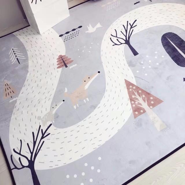 Wild Forest Carpet for Kids Room