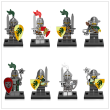 Средневековый замок, дракон, рыцарь, царства, героические строительные блоки, миниатюрные Детские кирпичи, игрушки, совместимые с LegoING CX0148