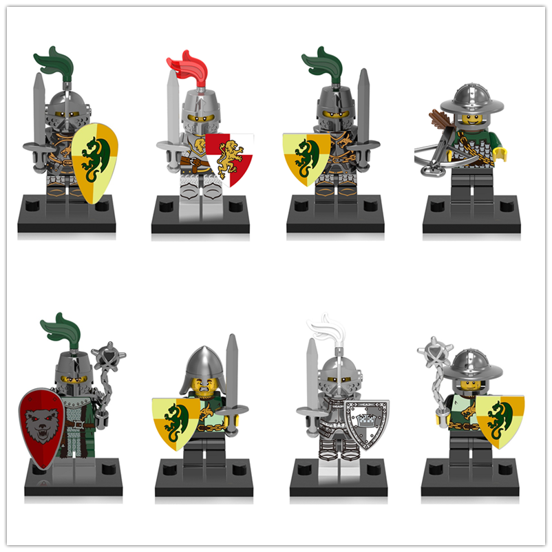 Medieval Castle Dragon Knight Kingdoms Heroic Building Blocks Minifigured Children Bricks Toys Compatible LegoING CX0148