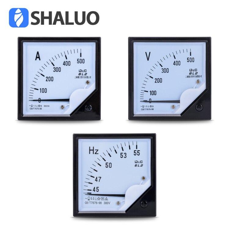 Switchbox Pointer Instrument 6L2 Amperometer Frequency Meter Hz/380V 500V Voltmeter For Generator Set