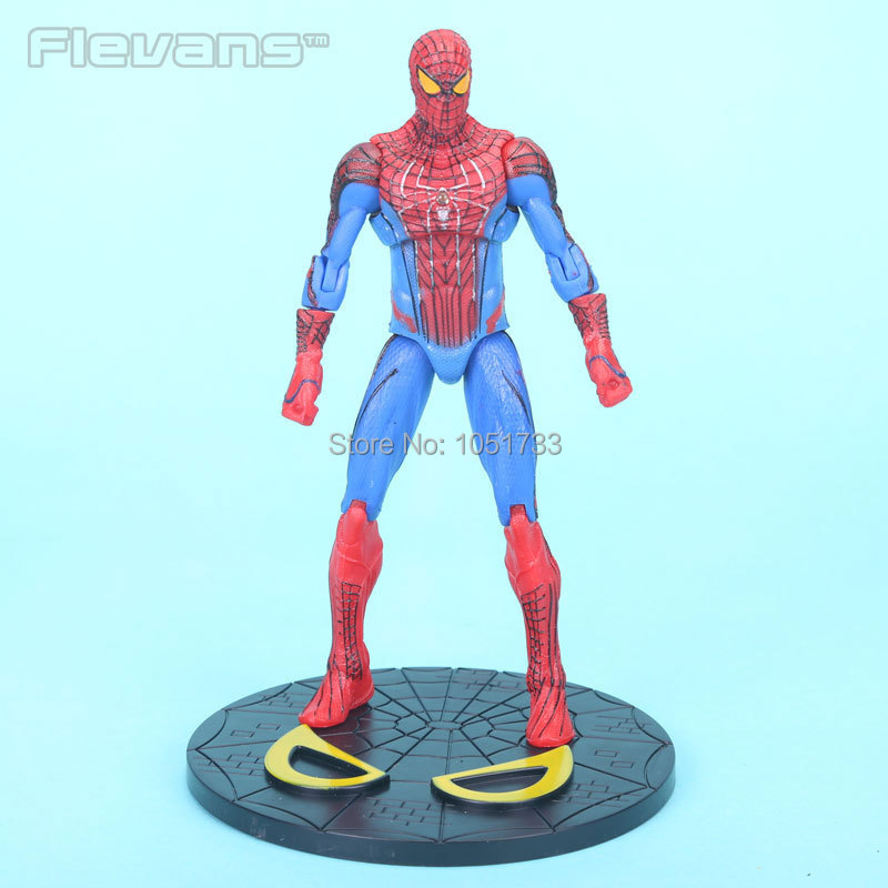 "7"" The Amazing SpiderMan <font><b>2</b></font> Action Figures Toy <font><b>Spider</b></font> <font><b>man</b></font> PVC Figure Doll toys for kids marvel toys Free Shipping"