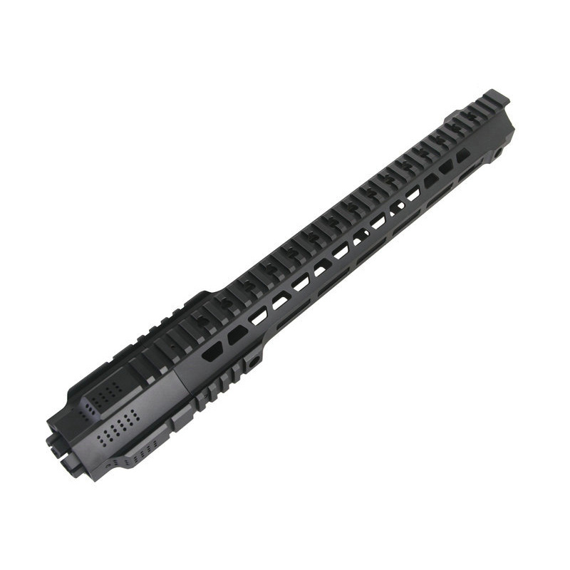 Hot sale Picatinny rail 14inch&17inch HandGuard Rail System Black for Airsoft AEG M4/M16 12 durable mil spec style matte finish lightweight aluminium handguard picatinny quad hunting shooting rail for aeg m4 m16 ar15