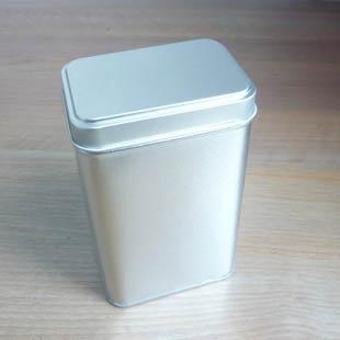 8 * 5,7 * 13,2 cm Krásný Obdélník prostý plechový box / box na čaj nebo šperkovnici bez potisku