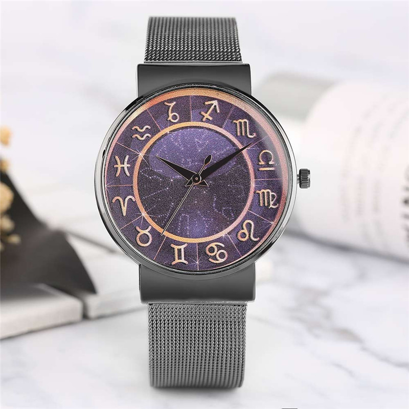 Women-Watches 12 Horoscopes Dial Rose Gold Women Watches Ladies Bracelet Wristwatch Female Clock Lover's Gifts 2018 New Arrival friendship gifts birthday gifts fw819e rose gold band white dial ladies elegant alexis brand crystal bracelet watch gifts box