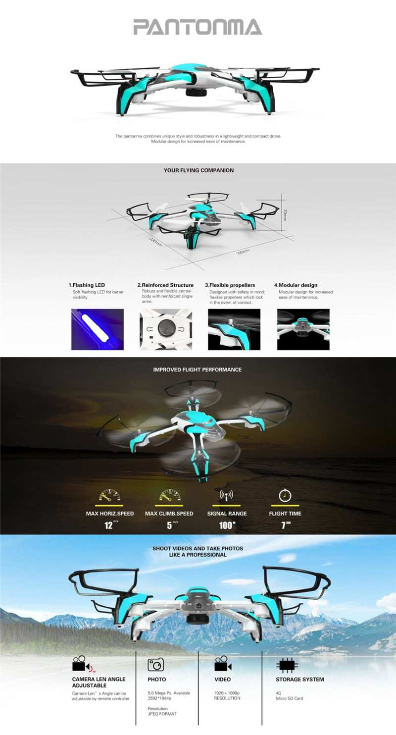 Newest KaiDeng K80 Pantonma with WIFI FPV 2.0MP Camera include Anti-collision Induction High-Defintion Drone RC Helicopter