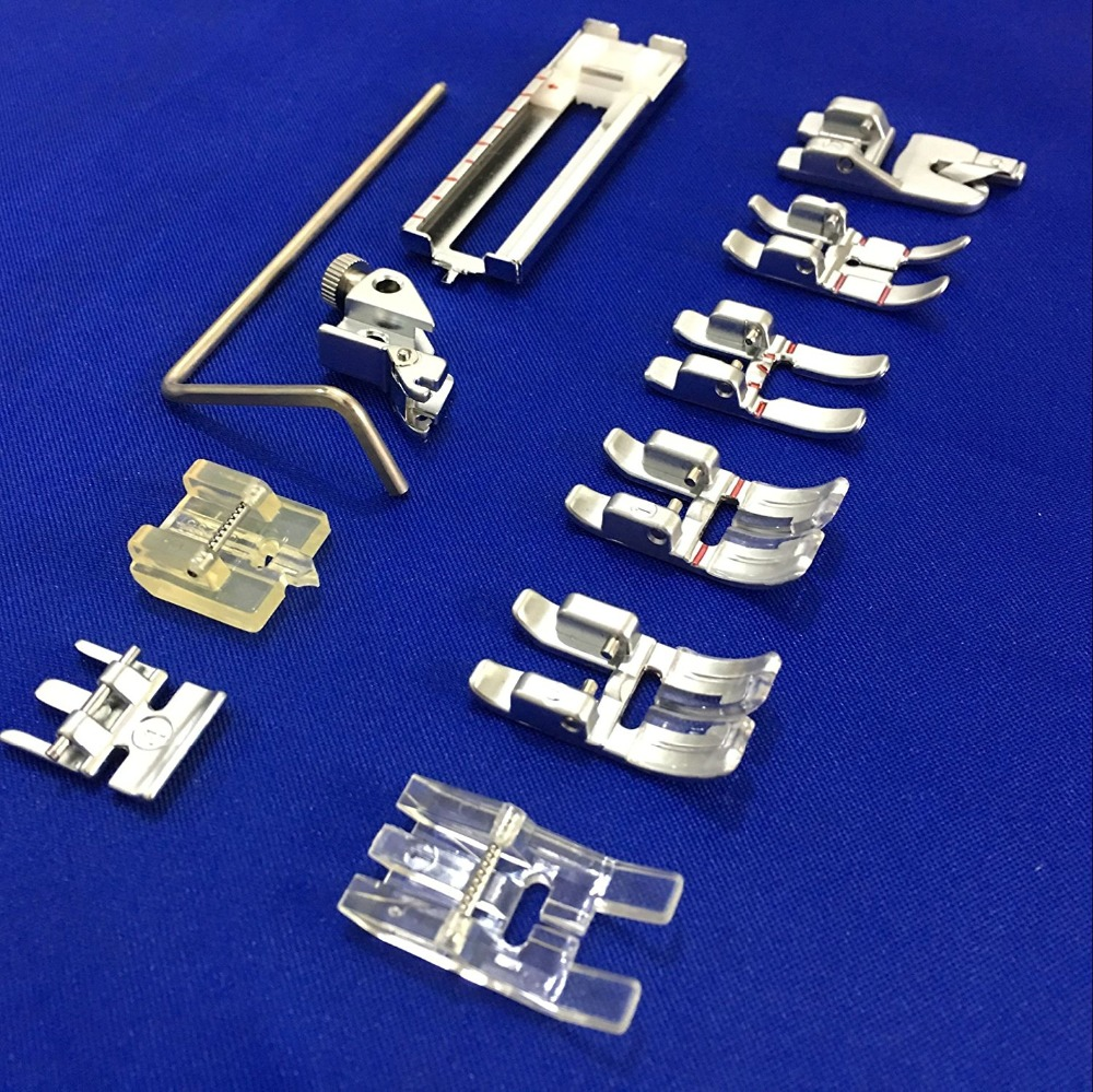 Image 5 - 11PCS Set #CY 011 001  Snap On Presser Walking Foot/Feet Fit for Pfaff 1000 7570 with IDT Walking Foot Sewing accessories-in Sewing Tools & Accessory from Home & Garden