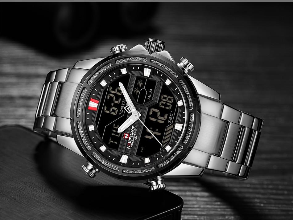 Top Luxury Brand NAVIFORCE Men Watches Military Waterproof LED Digital Sport Men's Clock Male Wrist Watch relogio masculino 15