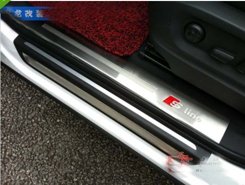 Stainless steel inside door sill scuff plate for AUDI Q3 2012 2013 for land rover range rover sport stainless inside door sill scuff plate 2014 2017 4pcs silver black