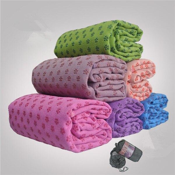 35 pcs Soft Travel Sport Fitness Exercise Yoga Pilates Mat Cover Towel Blanket Sports Towel 183x63cm