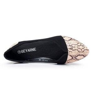 Image 4 - BEYARNE Pointed Toe Flats Sapatilha Ballerina Flats Ballet Shoes Women Sapato Feminino size 35 41