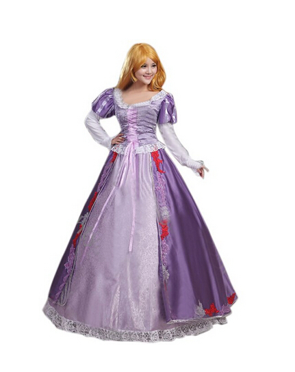 2017 Custom-made Tangled Beautiful Rapunzel Princess Dress Costume Cosplay