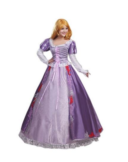 Custom made Tangled Beautiful Rapunzel Princess Dress Costume Cosplay