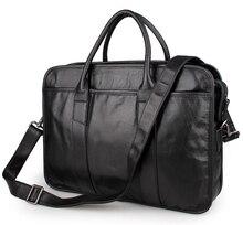 JMD Hight Quality Vintage Genuine Leather Briefcase Multifunction Mens Laptop Bag 7321