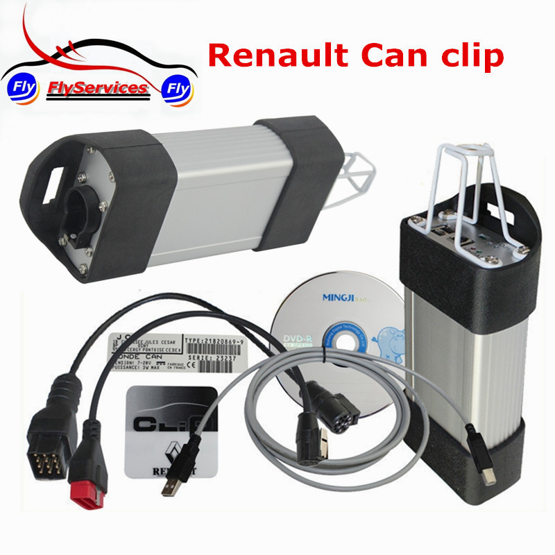 Latest Version Professional Diagnostic Interface Tool Renault Can Clip V165 OBDII With Multi-language Fast Shipping multi language v159 latest version renault can clip professional auto obdii diagnostic tool with high quality cnp shipping