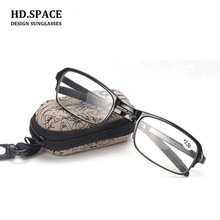 HD. espacio TR90 Ultra ligero asférico resina plegable gafas de lectura  hombres mujeres moda Unisex gafas plegable en caja de vi. 394d8f2e29