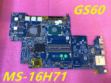 MS 16H71 FOR MSI GS60 LAPTOP Motherboard WITH i7 6700HQ CPU AND GTX 970M 100 TESED