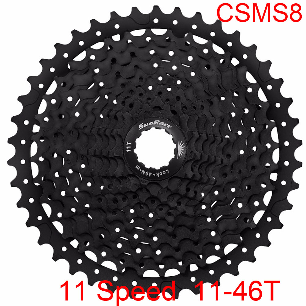 Bicycle Freewheel CSMS8 11-46T 11 Speed MTB Road Mountain Bike Cassette Freewheel Wide Ratio for Shimano Bike Parts Black shimano deorext fd m780 m781 front transmission mtb bike mountain bike parts 3x10s 30s speed