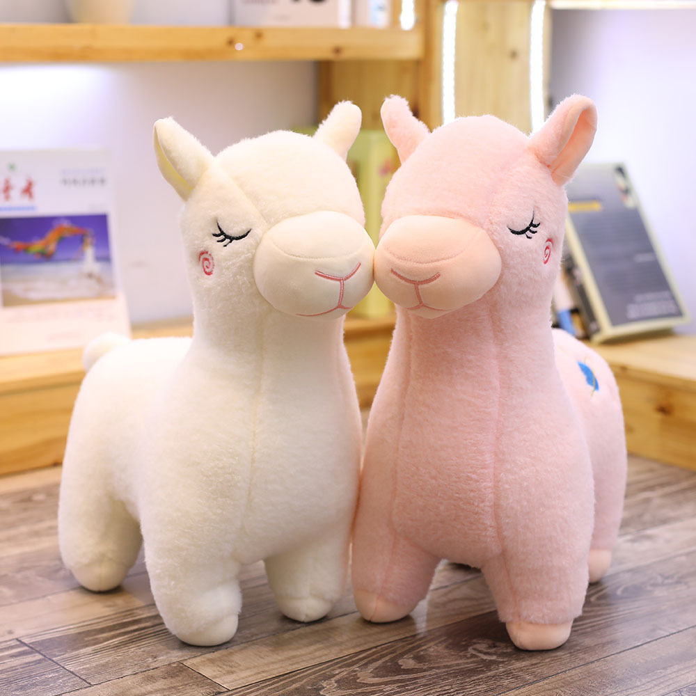 25cm Cute stuffed alpaca doll pillow grass mud horse stuffed animal soft stuffed animal child doll girl Christmas birthday gifts