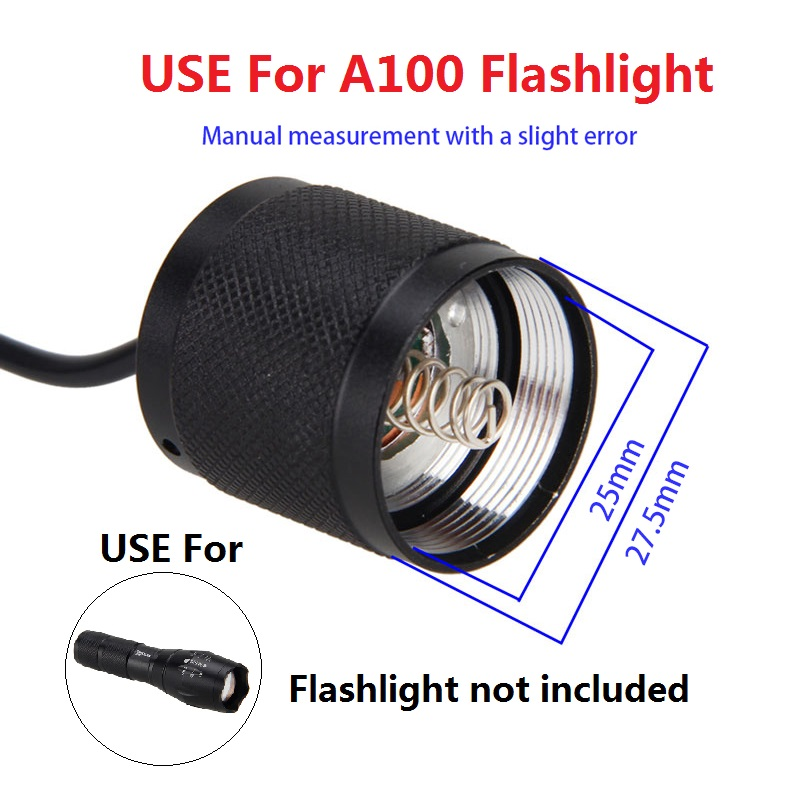 1PC Button Switch Case For C8 C12 501B 502B LED Flashlight Tail Switch Host