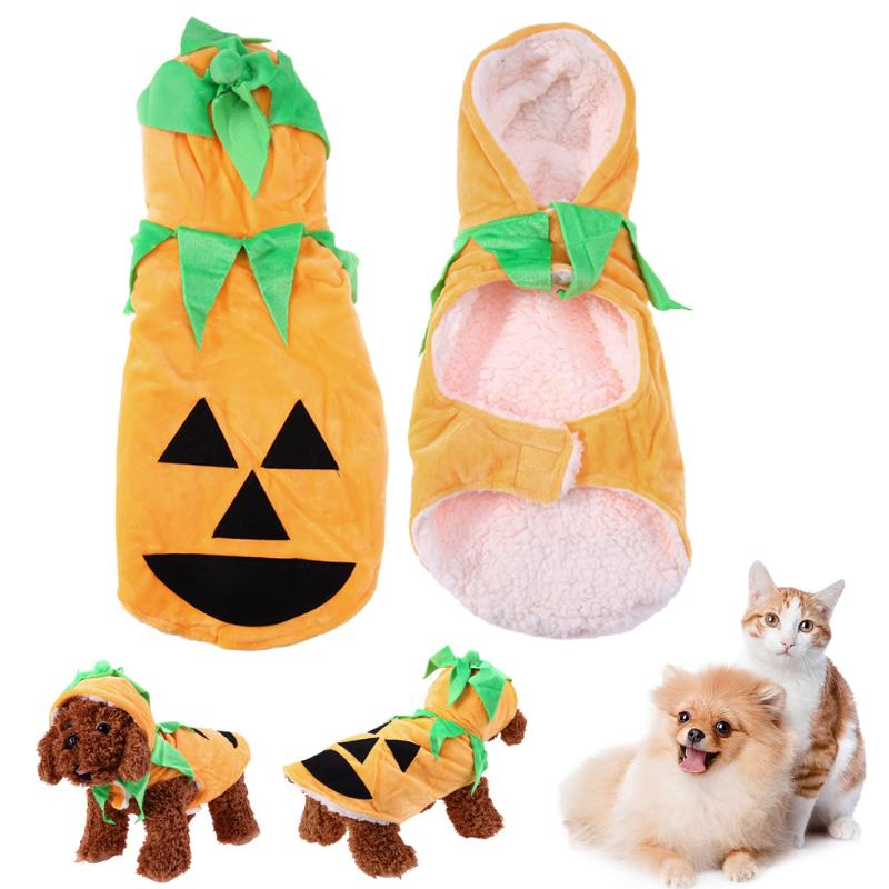 Halloween Pet Dog Clothes Cute Pumpkin Party Dress Fashion Puppe Hoodies Sweater Clothing Costume For Small Large Dog 2017 New