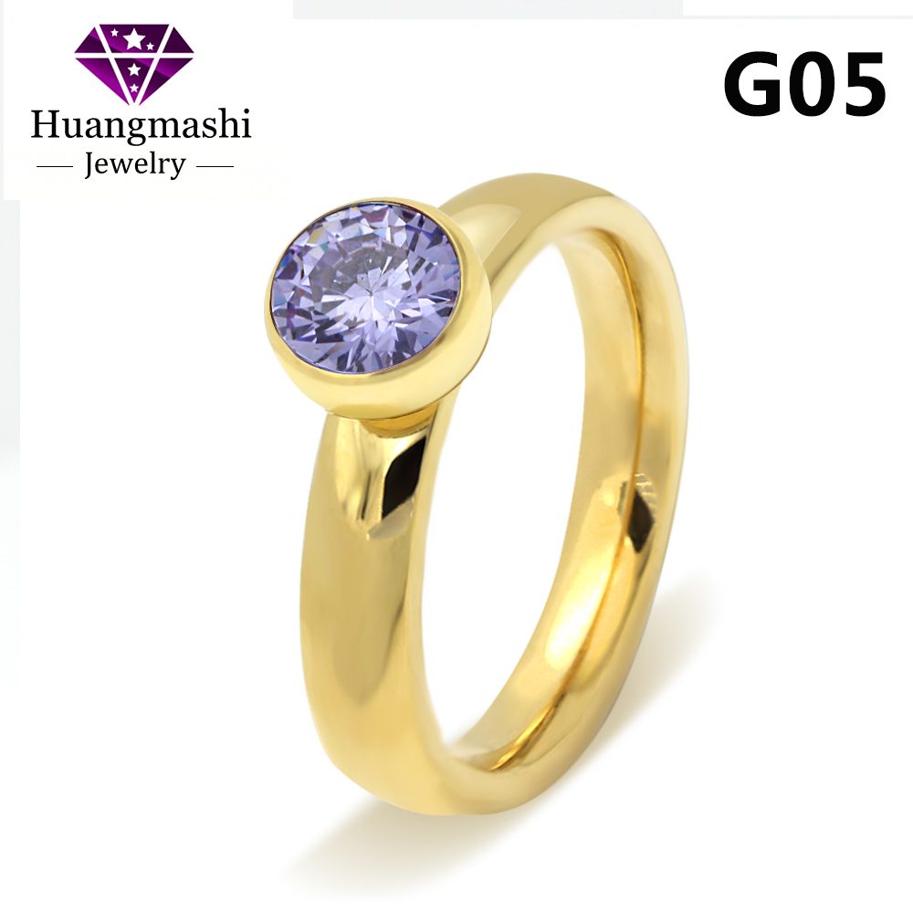 2017 Fashion Elegant Jewelry Stainless Steel Plated Rose Gold Big Crystal Ring For Wedding Promotion Cant Move R005